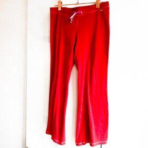 PINK victoria's secret red pajama pants cotton